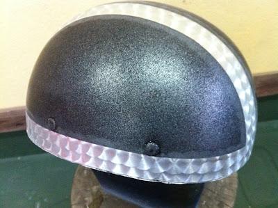 1622620280 - カスタムペイント工程  バッドボーンヘルメット シルバーリーフ スピニング