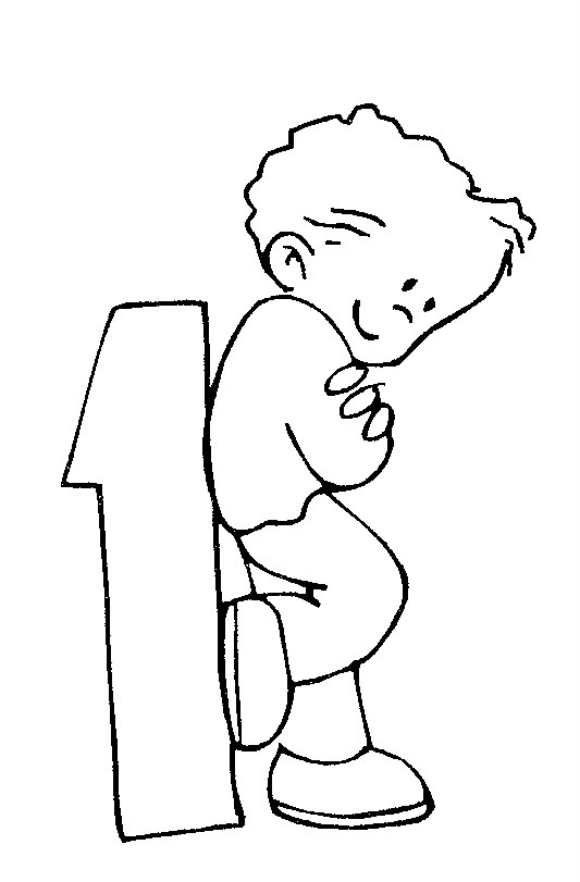 """Coloring Pages for Kids: Number One """"1"""" Coloring Pages"""