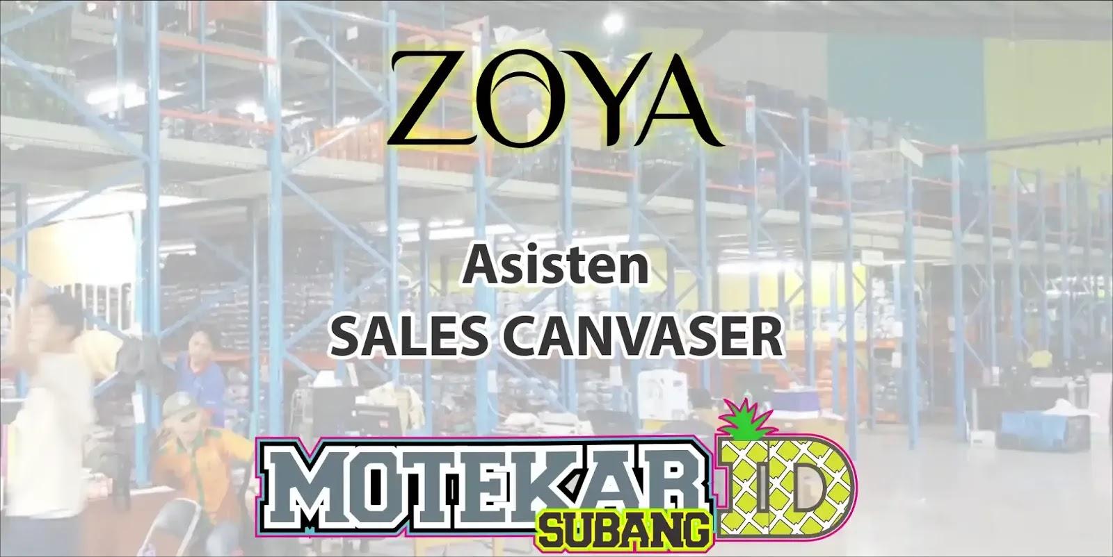 Lowongan Kerja Asisten Sales Canvasing Zoya Shafco Bandung