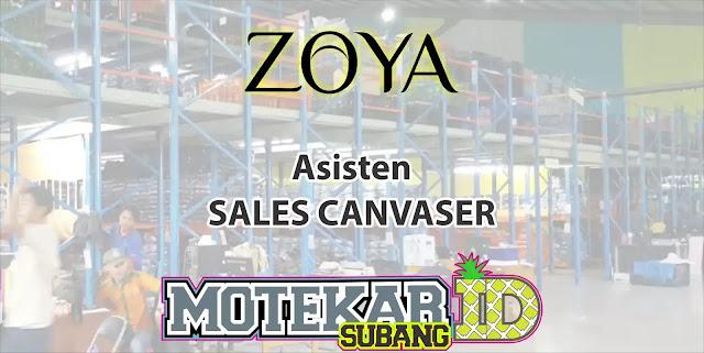 Lowongan Kerja Asisten Sales Canvasing Zoya Shafco Bandung 2019