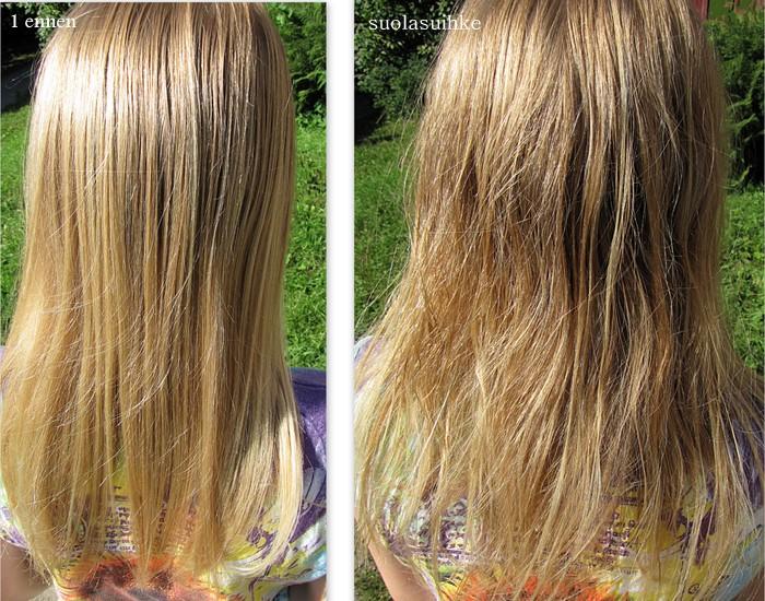 suolasuihke hiuksiin itse tehden