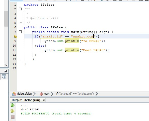 contoh program java if else