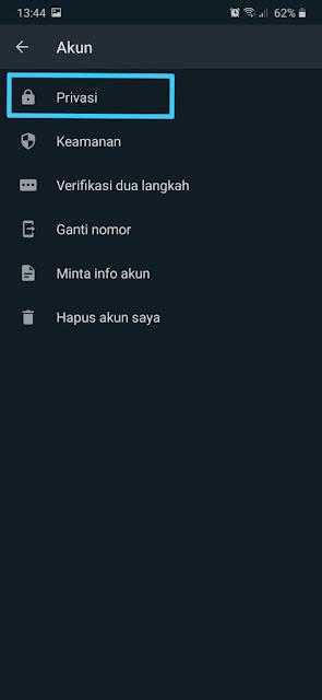 Cara Menyembunyikan Status Whatsapp 6