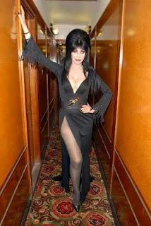 Elvira in hallway