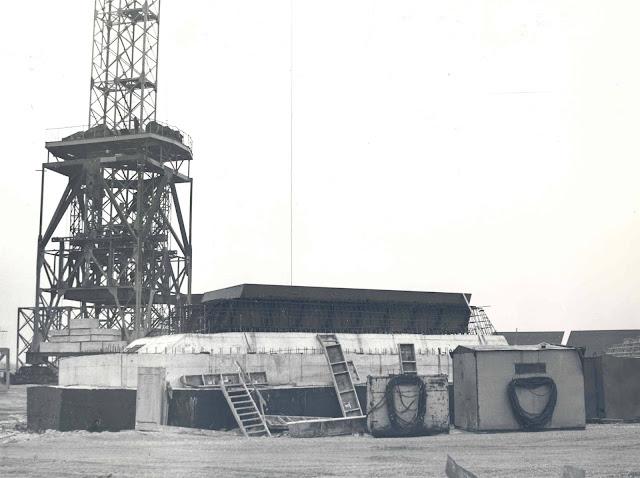 Начало строительства рижской телебашни