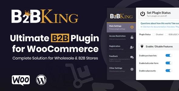 B2BKing v3.3.5 - The Ultimate WooCommerce B2B & Wholesale Plugin