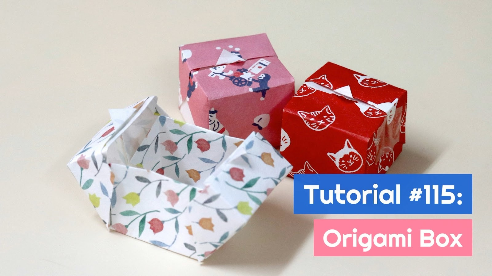 Easy Paper Box | How To Make Origami Box With Color Paper | DIY ... | 900x1600
