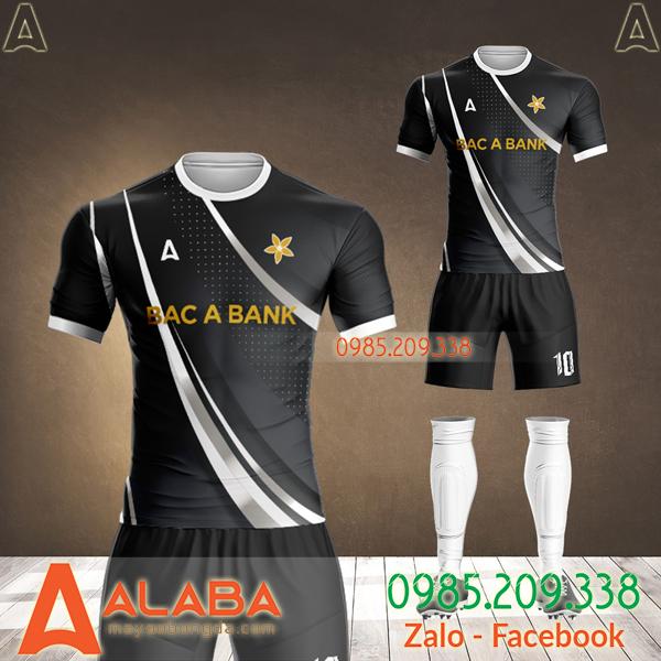 áo bóng đá ngân hàng bắc á bank màu đen