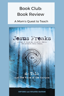 Text: Book Club: Book Review; cover of Jesus Freaks 2020 publication
