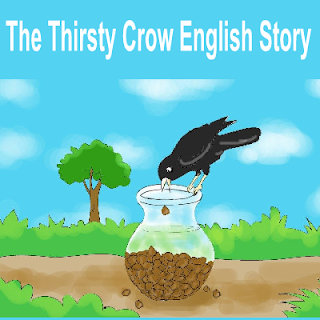 English Short Story The Thirsty Crow With Moral