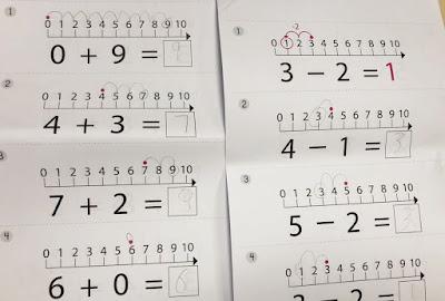 Mama Love Print 自製工作紙  - 數線加減法(10以內)工作紙 Math Number Line (within10) Kindergarten Math Worksheet Free Download