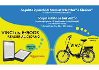 Con Scottex e Kleenex vinci 108 E-book Reader Kobo Clara HD e 1 Bici elettrica vivo Bike- City Urban 20