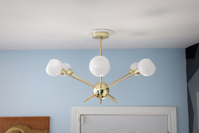 6 light sputnik gold ceiling chandelier