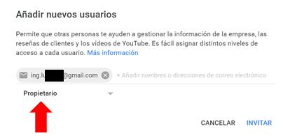como añadir propietarios canal de youtube