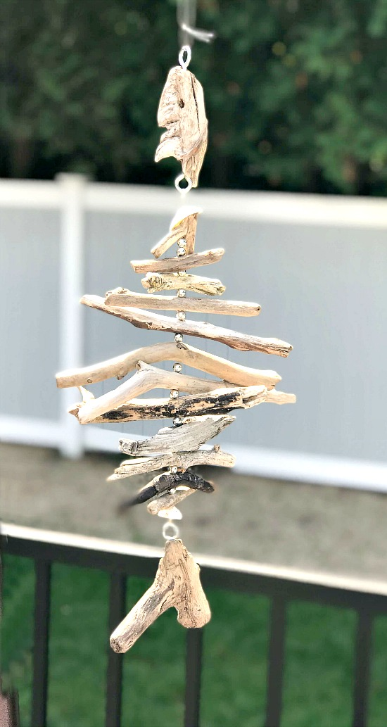 DIY Hanging Fish made from Driftwood