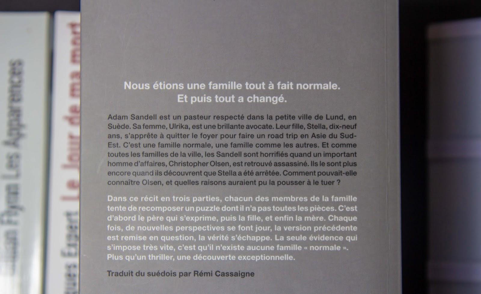 """Mon avis sur """"Une famille presque normale"""" de M.T. Edvardsson"""