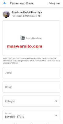 cara jual di marketplace facebook