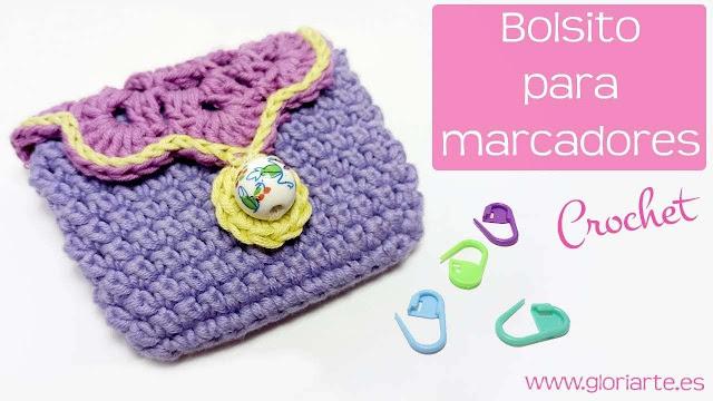 Bello Bolsito o Carterita Para Guardar Marcadores de Tejido a Crochet