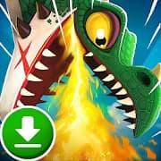 تحميل لعبة Hungry Dragon للاندرويد مهكرة