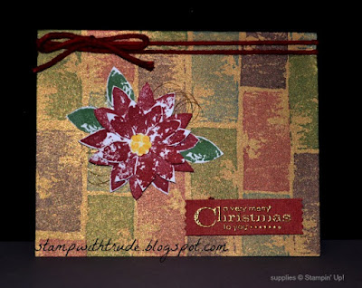 Painted Prints, hostess set, Stampin' Up!, Throwback Thursday, Stamp With Trude, Christmas card, poinsetia, mosaic