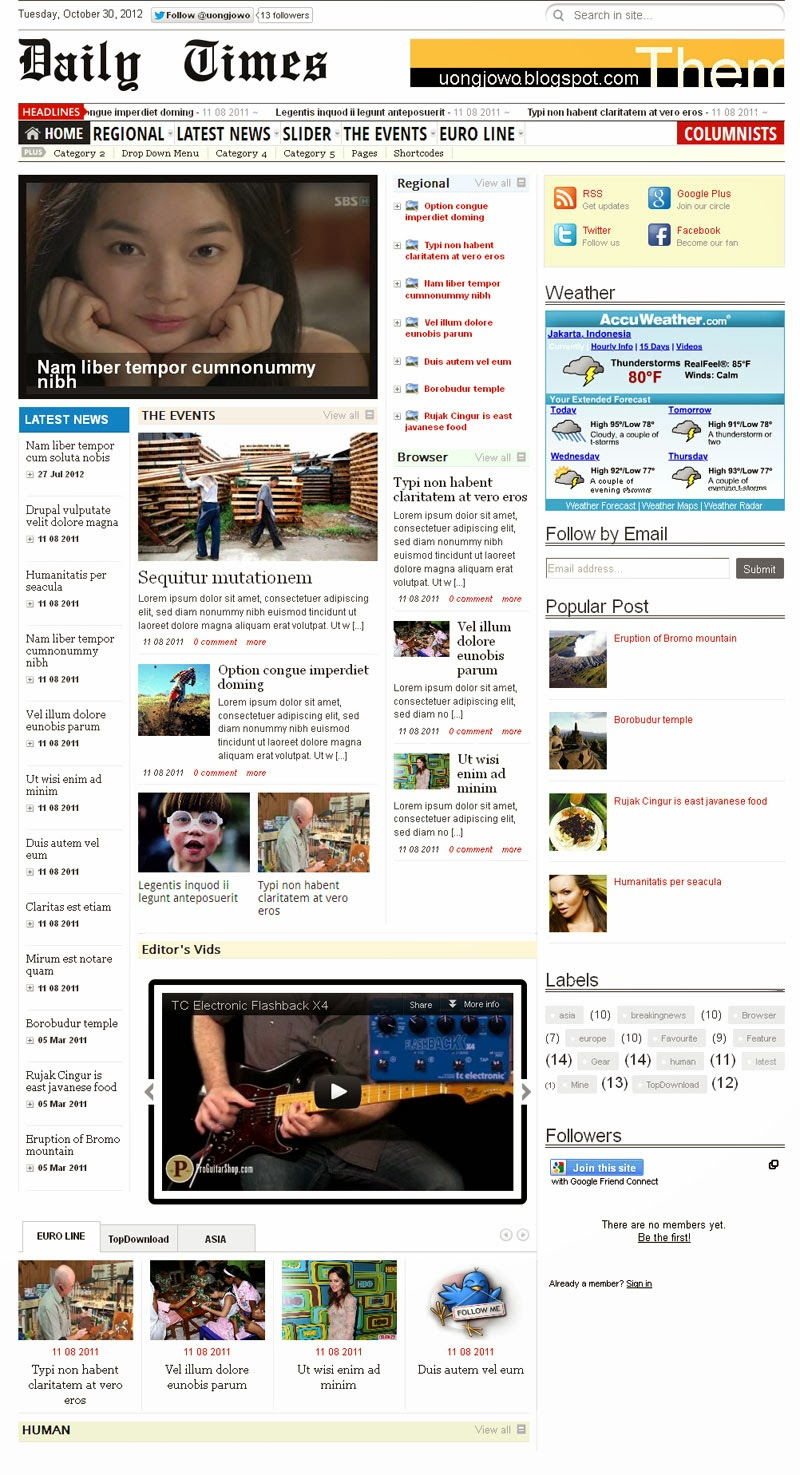 Daily-Times Blogger Template