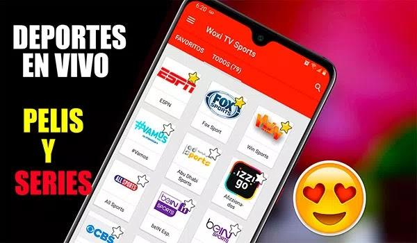 Deportes en vivo películas series y animes en tu android