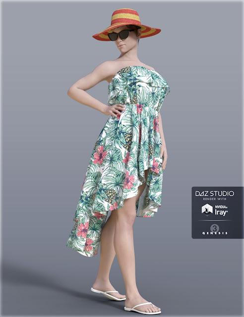 H/C Beach Dress for Genesis 3 Female