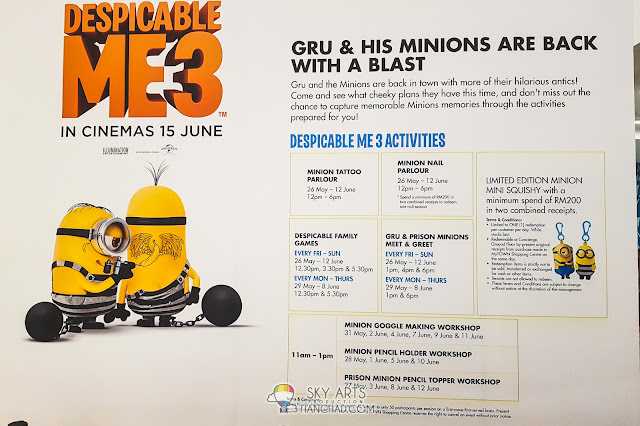 Despicable Me 3 Gru and Minions Meet & Greet @ MyTOWN Shopping Mall