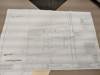 camera snapshot of the draft plans for the former Keigan location