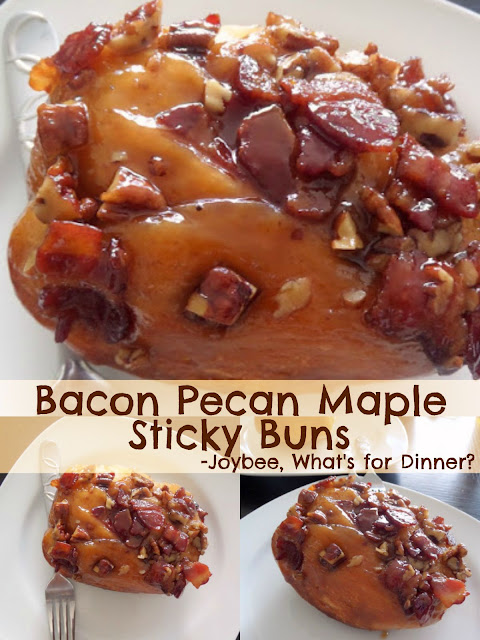 Bacon Pecan Maple Sticky Buns: Wow! Bacon and pecan topped cinnamon ...