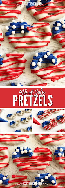 4th of July Pretzels by craftcreatecook.com