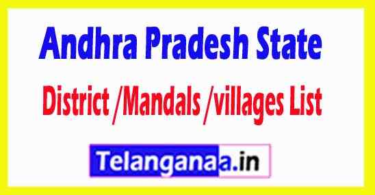 Andhra Pradesh All District or Mandals or villages List
