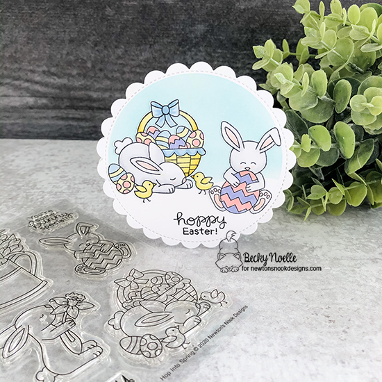 Hoppy Easter by Becky features Hop Into Spring by Newton's Nook Designs; #newtonsnook