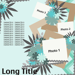 Free Layered Scrap Template - Multiple Photo #1