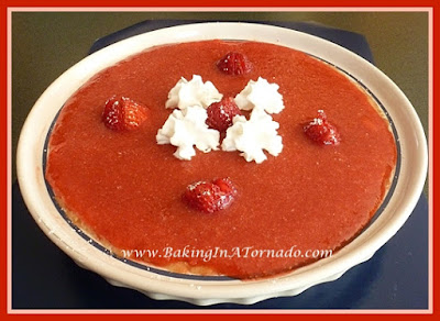 Strawberry Cream Cheese Pie | recipe developed by www.BakingInATornado.com | #recipe #dessert