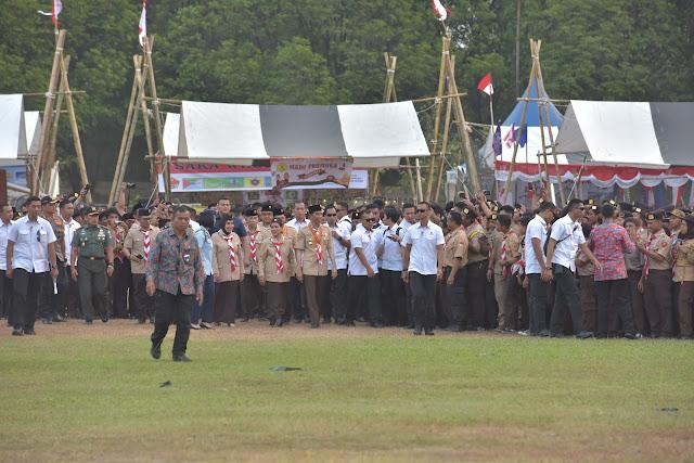 Bentuk Karakter, Presiden Jokowi Beri Perhatian dan Dukung Gerakan Pramuka