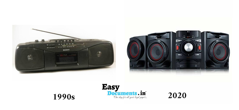 Music system in 90s vs 2020