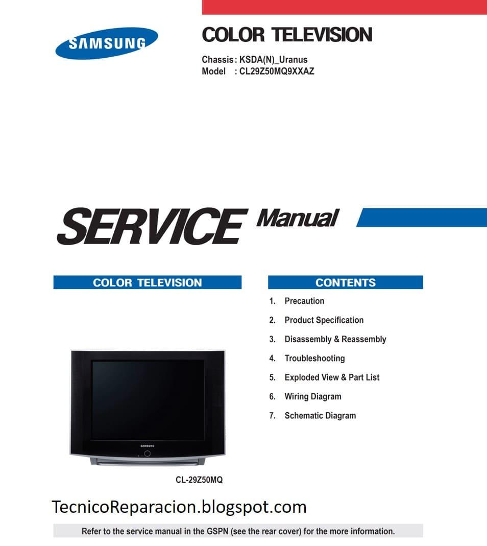 CL-29Z50MQ KSDA Diagrama Samsung CL29Z50MQ9XXAZ | Reparación ... on