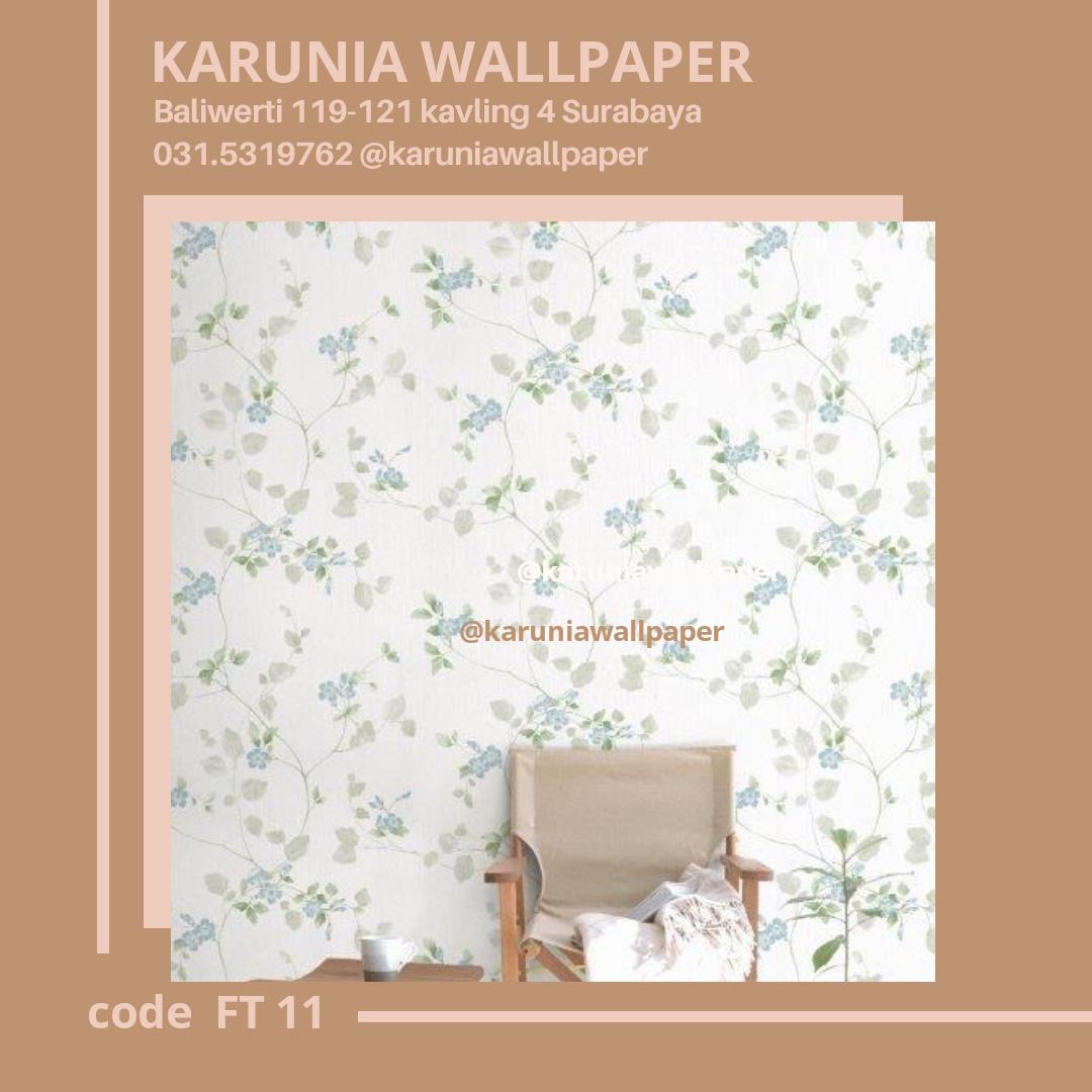 toko jual dinding wallpaper shabby chic bunga