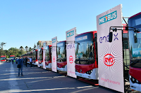 Metbus electric bus terminal (Credit: Metbus, Enel X, & BYD) Click to Enlarge.