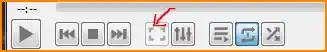 وضع ملء الشاشة برنامج VLC