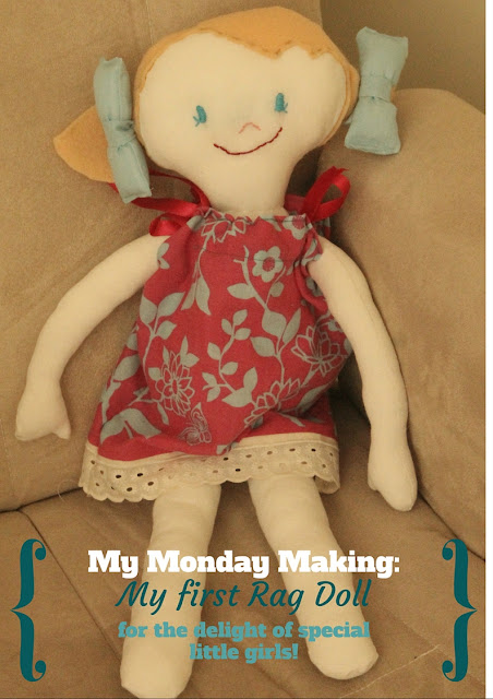 My Monday Making: My first rag doll