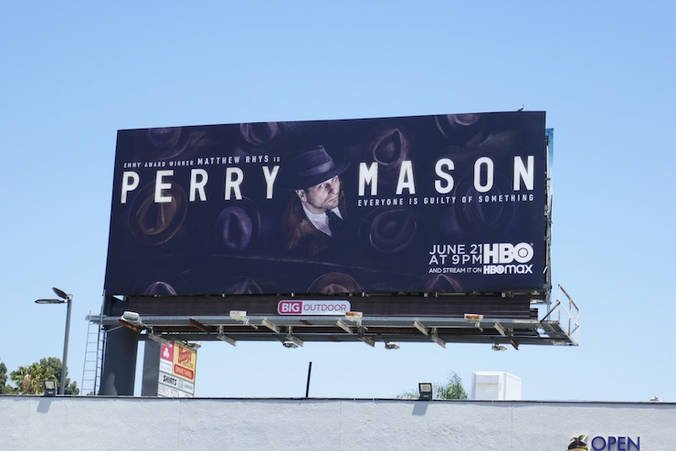 Perry Mason series launch billboard