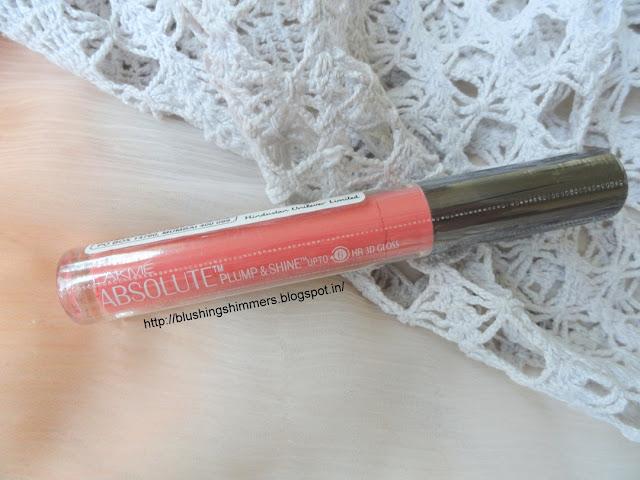 Lakme Absolute Plump and Shine Lip Gloss - Blossom Shine