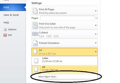 membuat ukuran kertas Folio/F4/HVS
