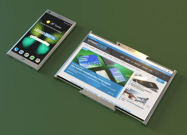 سامسونج قد تعمل على هاتف بشاشة قابلة للسحب وفقاً لبراءة اختراع جديدة