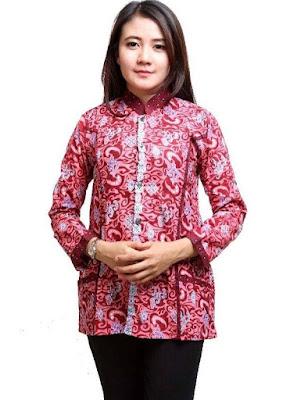 Desain Baju Batik Lengan Panjang