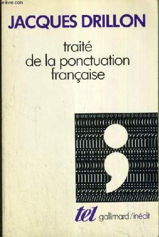 """تحميل كتاب إحترف الكتابة بدون أخطاء """"Traité de la ponctuation française"""""""