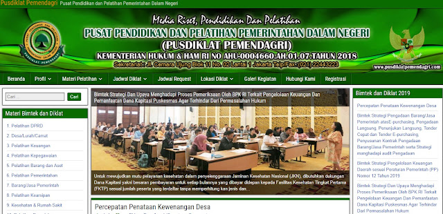 INFO BIMTEK PUSDIKLAT PEMENDAGRI Terlengkap Di Indonesia