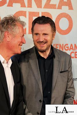 Liam Nesson y Hans Petter Moland en la Premiere de `Venganza Bajo Cero´